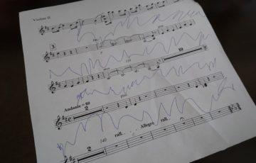 楽譜に書込